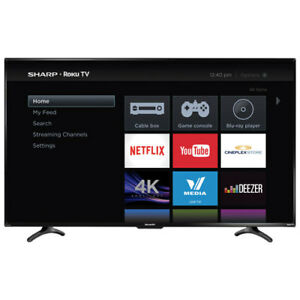 Sharp 50' 4K UHD HDR LED Roku Smart TV