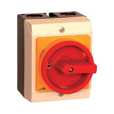 Hauptschalter mit Gehäuse 4-polig 16 A IP 65 Trennschalter Not-Aus 11009