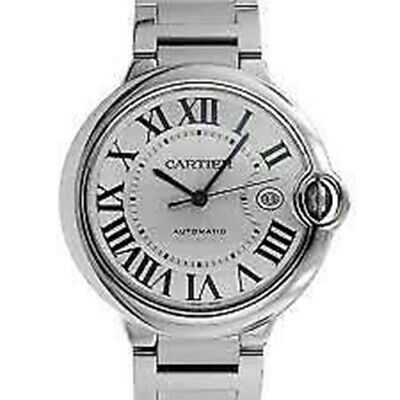 Cartier Ballon Bleu 42mm Steel Automatic Watch Box/Papers 2019 W69012Z4 3765