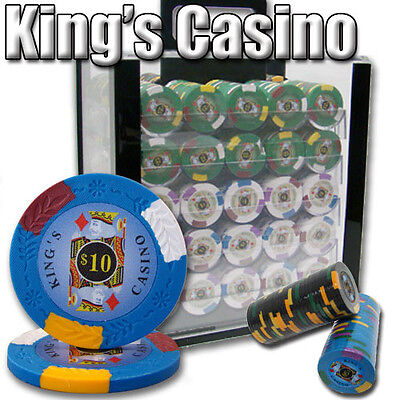 New 1000 Kings Casino 14g Clay Poker Chips Set with Acrylic Case - Pick Chips! ()