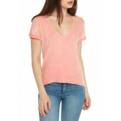 American Eagle Outfitters Womens V-neck Vintage T-Shirt Top Small Coral