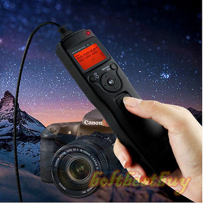 Timer Remote Control Shutter Release for Canon EOS 650D 600D 60D Rebel T4i T3i Canon Remote Shutter Release
