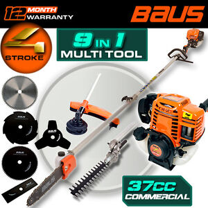 NEW BAUS 4 Stroke Multi tool chainsaw hedge trimmer brush cutter Whipper snipper