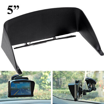 "Universal Sun Shade Glare Vision Shield Clip for 4"" 4.3"" 5"" inch GPS Navigation"