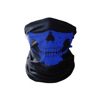 Lot of 10 - Blue Skull Halloween Face Mask Sport Neck Gaiter Rave Festival Cheap