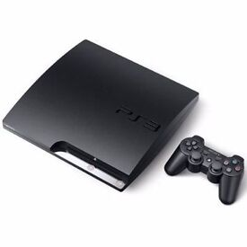 SONY PLAYSTATION 3 SLIM 320GB WITH 7 GAMES PLUS 2 NEW CONTROLLERS
