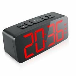 Digital Alarm Clock, 6.3 Large LED Display Digital Alarm Clock Big Number Red