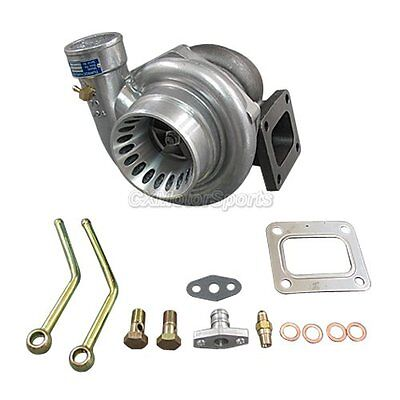 CXRacing T4 GT35 Turbo Charger Anti-Surge 500+ HP 0.68 AR + Oil Fitting Drain