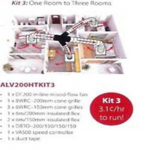 Heat Transfer- heat from 1 room to 3 rooms ALV200HT Allvent Axial Erina Gosford Area Preview