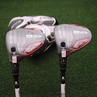 Cobra Golf Bio Cell Red 3 4   5 7 Fairway Wood Set Left Hand Regular Flex   New