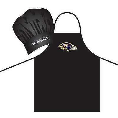 Baltimore Ravens Nfl Tailgating (BALTIMORE RAVENS NFL APRON & CHEF'S HAT SET BARBECUE TAILGATING)