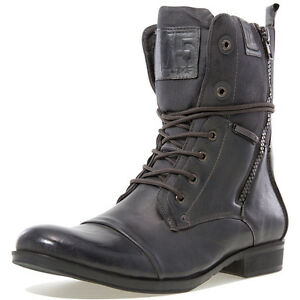 j75 trooper 2 coal leather combat boots SIZE 8