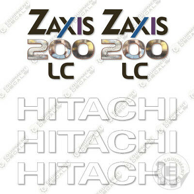 Hitachi Z-Axis 200 LC Excavator Equipment Decals ZAxis for sale  Shipping to India