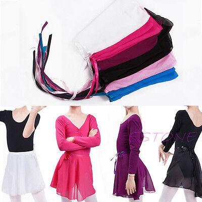 Children Chiffon Girls Dance Wear Skate Wrap Scarf Kids Ballet Tutu Dance Skirt