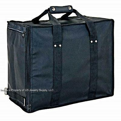 Jewelry Travel Case With 8 Pcs 1.5 Black Trays 2 Pads 6 Black 72 Ring Pads