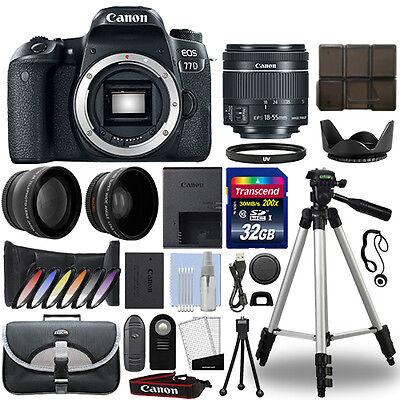 Canon EOS 77D Digital SLR Camera + 18-55mm STM 3 Lens Kit + 32GB Best Value