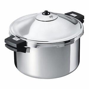 Kuhn Rikon 12 Liter (12.4 Quart) Hotel Stainless Steel Pressure Cooker