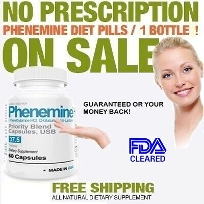 1CT Phenemine 375 37.5 Max Strong Best Fast Rapid Weight Loss Extreme Diet Pills