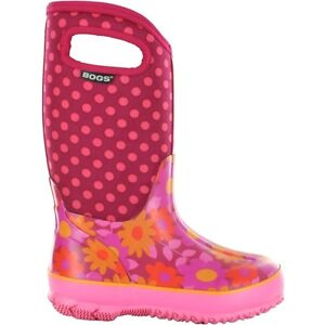 Bogs Kid's Girls Classic Flower Dot Cherry Pink Youth Size 2