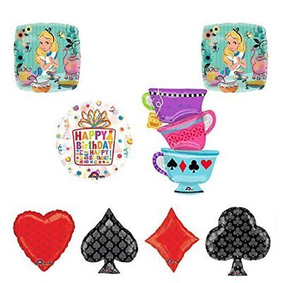 ALICE IN WONDERLAND Tea Party Tea Cup Playing Cards Birthday Balloons Supplies](Alice In Wonderland Birthday Supplies)