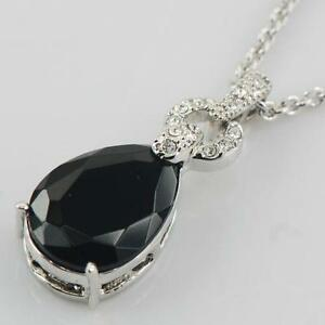 Black onyx pendant ebay black onyx and sterling silver pendant aloadofball Image collections