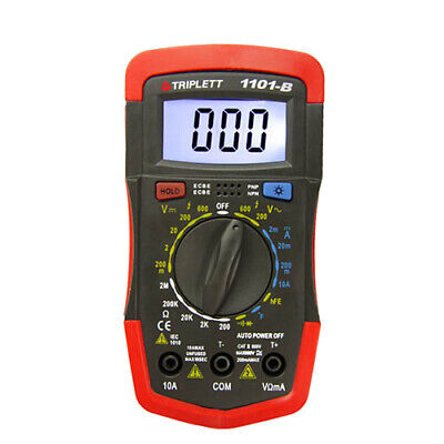 Triplett 1101-b 1101 Compact Digital Multimeter W Backlit Display Temp Test