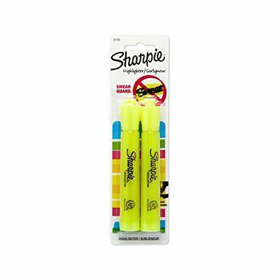 2 Pack Sharpie Fluorescent Yellow Highlighters School Arts Crafts Office Neon