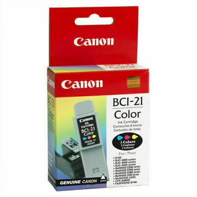 Canon BCI-21 Black and Color Ink Cartridge 3499A40 Genuine #705