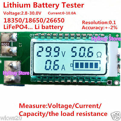 Universal Lithium ion battery load capacity resistance current meter benchmark