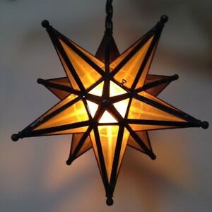 vintage moravian star light lamp hanging ceiling fixture chandelier. Black Bedroom Furniture Sets. Home Design Ideas