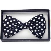 Bow Tie Black Polka Dot