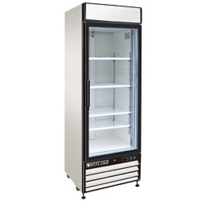 New Maxx Cold Single Glass Door Reach-in Freezer 27 Mxm1-23f Free Shipping