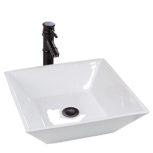 White Square Vessel Sink Ebay