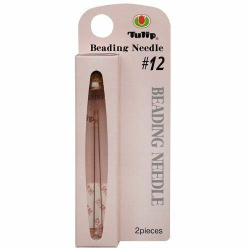 Tulip Beading Needles Size #12 47.5x0.35mm - 2 Needles per Pack (BNTLN12)