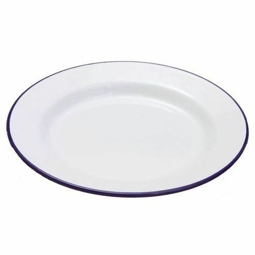 Enamel Pie / Dinner Plate 24cm -Perfect for apple pies.