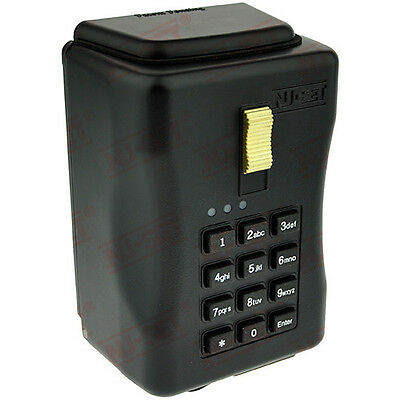 Electronic Key Storage Lock Box - Wall-mount Combination Lockbox With Downloadab