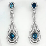 Blue Topaz 925 Sterling Silver