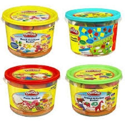 (4 PACK) Play-Doh 4 Bucket Playset - 1 Animals/ 1 Picnic/ 1 Numbers /1 Beach