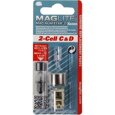 MagLite LMXA201 Magnum Star Xenon Light Bulb Upgrade for MagLite 2 Cell C and D