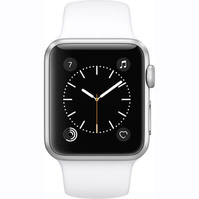 NEW APPLE Sentinel 2 SERIES 1 38MM SILVER ALUMINUM CASE WHITE SPORT Combination