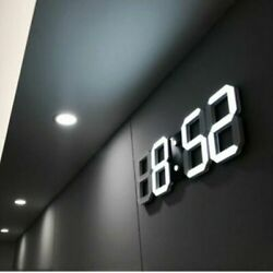 Remote Control Large LED Digital Wall Clock w / Countdown Timer Temperature Date