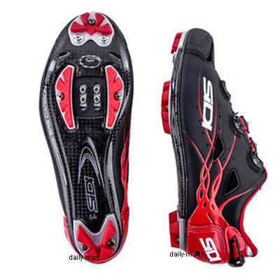 New SIDI TIGER Carbon Mountain MTB Cycling Shoes Matte Black Red US (Cycling Warehouse)