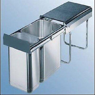 Wesco Edel-Double 30 Dt Cubo de Basura Cocina Artículo 757624-42