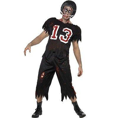 Herren Halloween Zombie American Fußballspieler Kostüm Kostüm von - Fußball Herren Kostüm