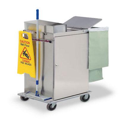 Royce Rolls Mp2436e Stainless Steel Wide-size Microfiber Housekeeping Cart