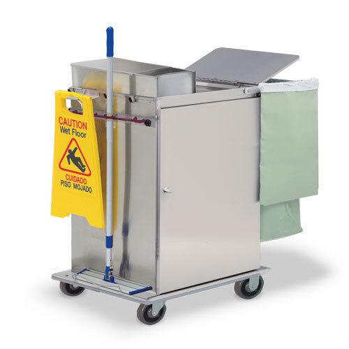 Royce Rolls #MP2436E Stainless Steel Wide-Size Microfiber Housekeeping Cart