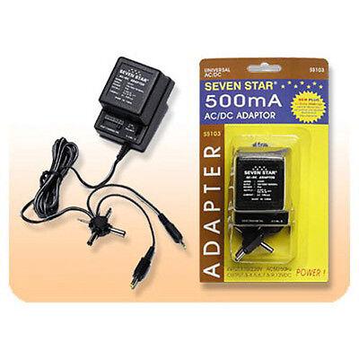 Sevenstar SS103 500MA AC/DC Universal Power Adapter Output 3/4.5/6/7.5/9/12 V DC