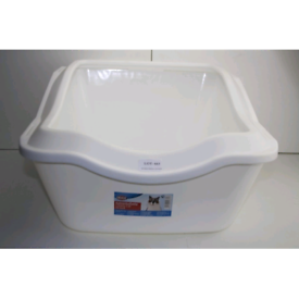 New deep sided cat litter boxes.