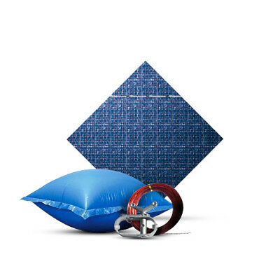 15' Round Pool Winter Cover; w/ Steel Cable, Winch, Air Pillow, 10 Year Warranty