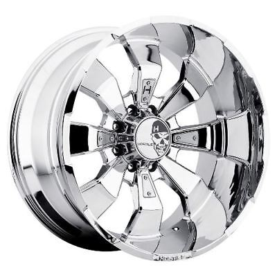20x9 Hostile H103 Hammered Armor Plated (Chrome) Wheels 8x170 (0mm) Set of 4